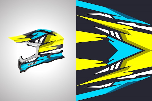 ヘルメットデカールラップデザインベクトルカラーデザイン