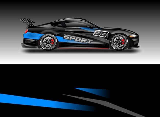 車のデカールラップベクトルデザイン
