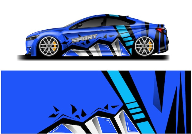 車のデカールラップデザイン