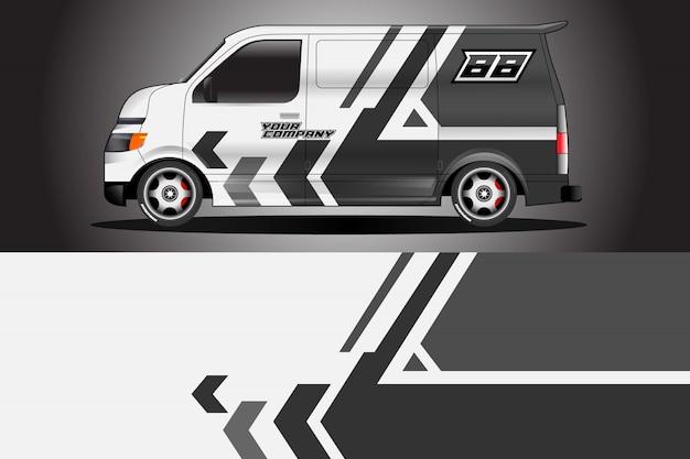 車のラップデザインベクトル