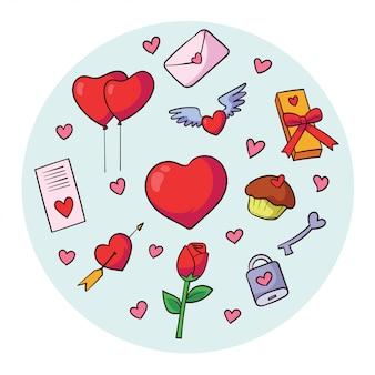 バレンタインデーのベクトル要素