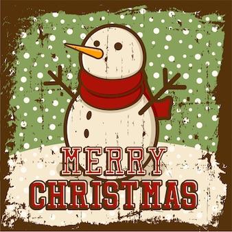 メリークリスマスビンテージポスター