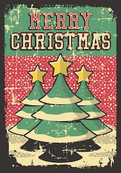 С рождеством винтажный плакат