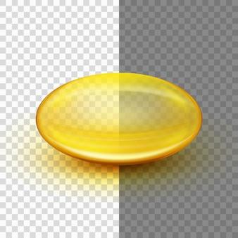 半透明のソフトジェルカプセル。