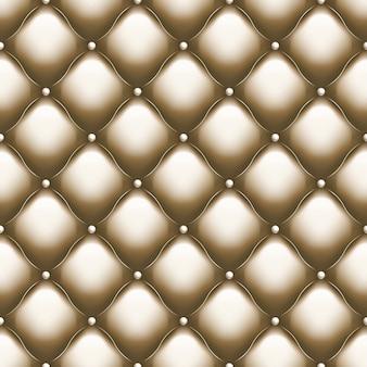 装飾的な室内装飾品の柔らかい光沢のシームレスなキルティングパターン。ゴールドスレッドの真のラグジュアリーテンプレート。そしてまた含まれています