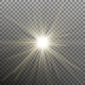 Яркая сияющая звезда. разрывной взрыв. прозрачный фон только в