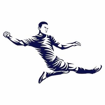 フットボール選手のベクトル