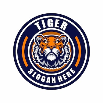 タイガーマスコットロゴスポーツ。