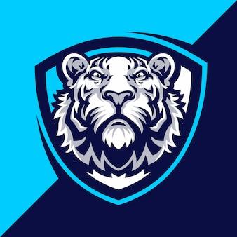 Тигр талисман логотип спорт.