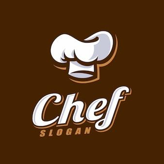 シェフのロゴのテンプレート。パン屋さんのロゴのテンプレート