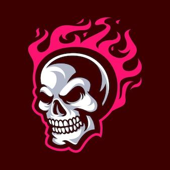 Талисман черепа для спортивного логотипа