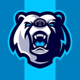 Логотип талисмана головы медведя