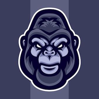 Вектор головы гориллы
