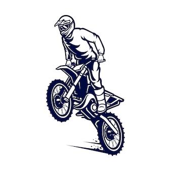 モトクロスのベクトルのロゴ、モトクロスフリースタイル