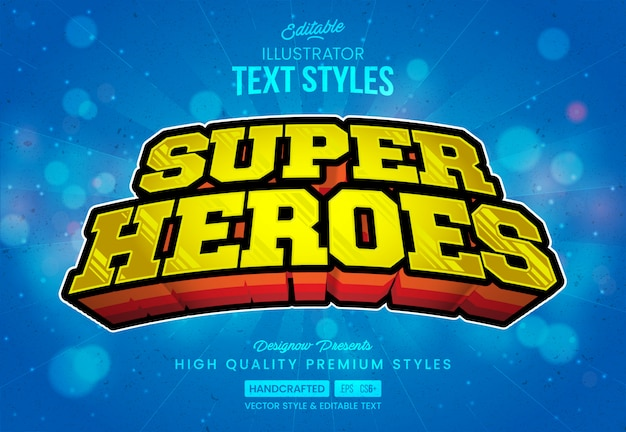 スーパーヒーローのテキストスタイル