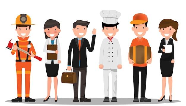 労働日の概念におけるキャリアキャラクター