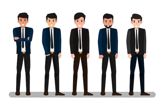 ビジネスマンのベクトル図のグループ。