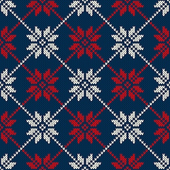 Зимний праздник свитер дизайн. бесшовные трикотажные