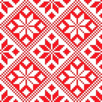 スロベニアの伝統的なパターンの飾り。シームレスな背景