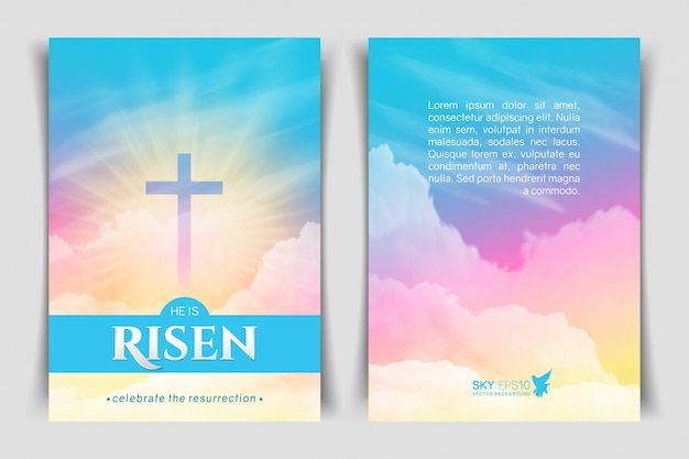 キリスト教の宗教的なデザイン。縦型ポスター。