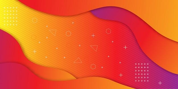 グラデーションの幾何学的形状の背景