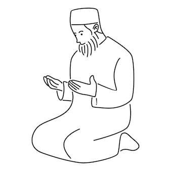 祈るイスラム教徒の男性