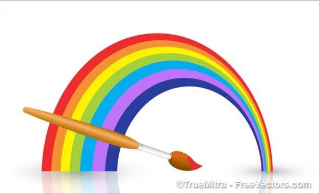 Красивые красочные вектор радуги