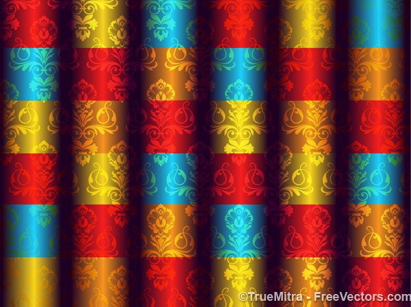 抽象的なダマスク織の背景パターンベクトル