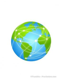 地球地球儀インターネット