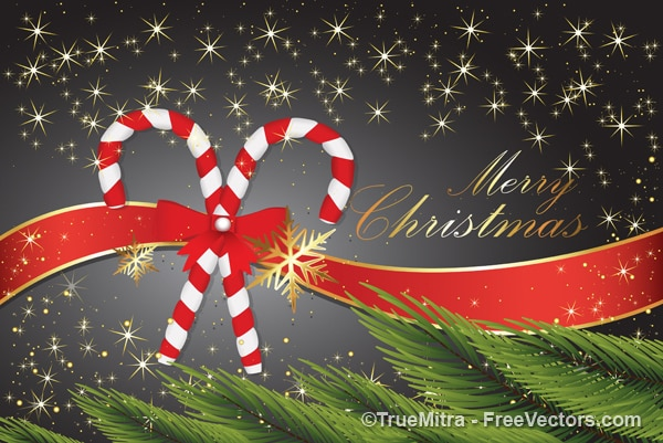 美しいクリスマスのグリーティングカード