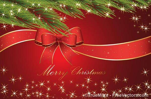 Рождество ленты с филиалами