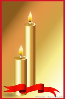 Красивые золотые горели свечи
