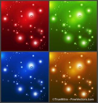 Красочный фон с блестками и звезды