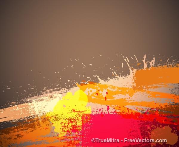 汚い水彩グランジブラシバナーの背景ベクトルセット