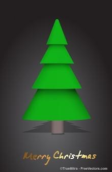 クリスマス円錐形のツリー