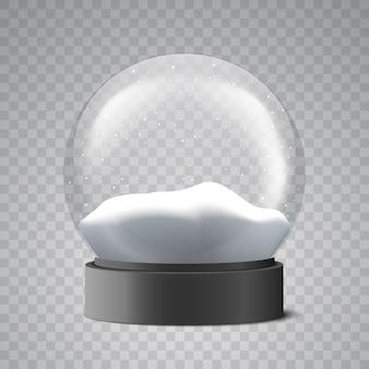 クリスマスのスノードーム。ガラス玉。