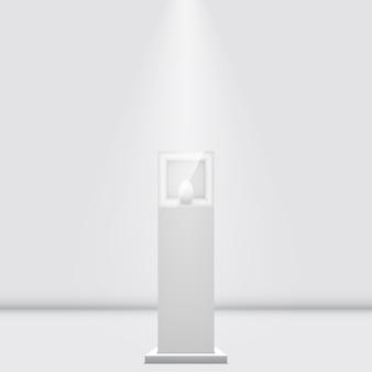 白い展示台。 。