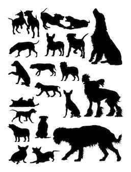 犬の動物のシルエット