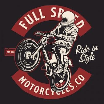 古典的なオートバイの跳躍