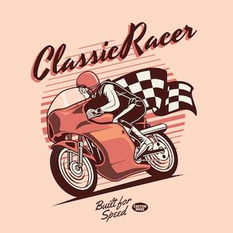 Классический мото гонщик