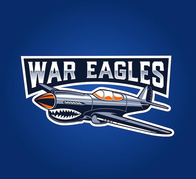 古典的な飛行機の戦争イーグルスバッジ