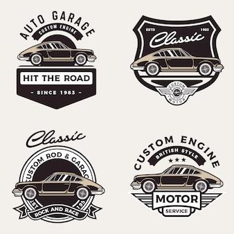 Набор автомобильных значков