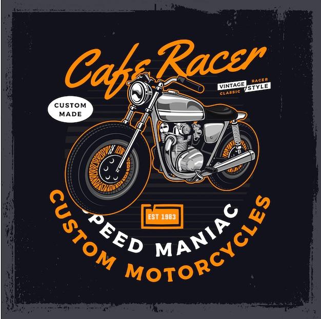 Серый мотоцикл кафетерий
