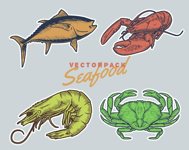 Винтажный стиль морепродуктов