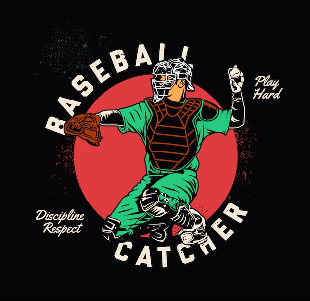 野球キャッチャー