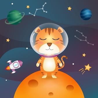 宇宙銀河のかわいい虎