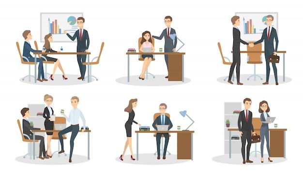 オフィスでの会議。