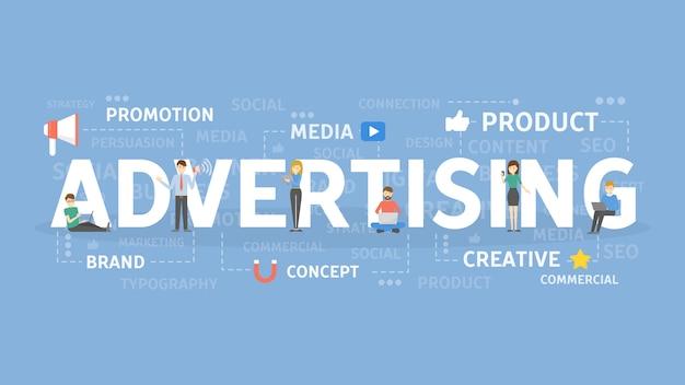 広告の概念図。