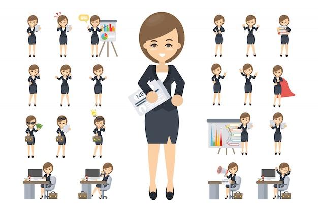 ビジネス女性セット。