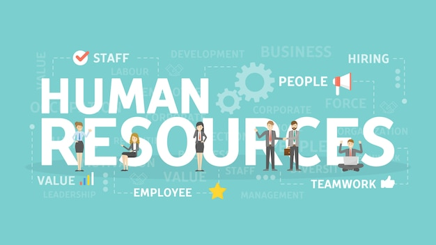 人材の概念図。新しいスタッフを見つけることのアイデア。